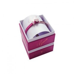 Coffret BRACELET Guess Color Chic doré rose & cuir fuschia - UBS91311