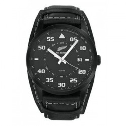Montre All Blacks - 680161 - Cuir noir