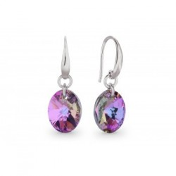 Spark, Crystals from Swarovski® A392V - Boucles d'oreilles Argent - Vitrail
