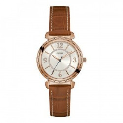 Montre Guess -W0833L1-BRACELET cuir marron.